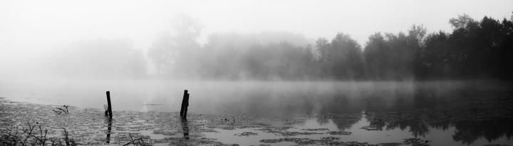 Malý Budní, panorama v 6hod ráno