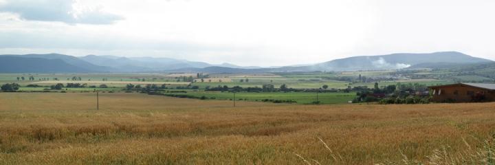 Čerhov - pohled do Maďarska